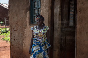 Felicite, a schoolteacher, watches as her home is being decontaminated after a pastor living in the house tested positive for Ebola in Beni. The DRC is currently experiencing the second largest Ebola outbreak in recorded history, and the response is hampered by it being in an active conflict zone. More than 1,400 people have died since August 2018.