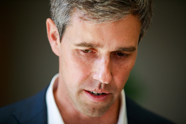 Democratic presidential hopeful Beto O'Rourke speaks to supporters after the AARP 2020 Presidential Candidate Forum in Sioux City.