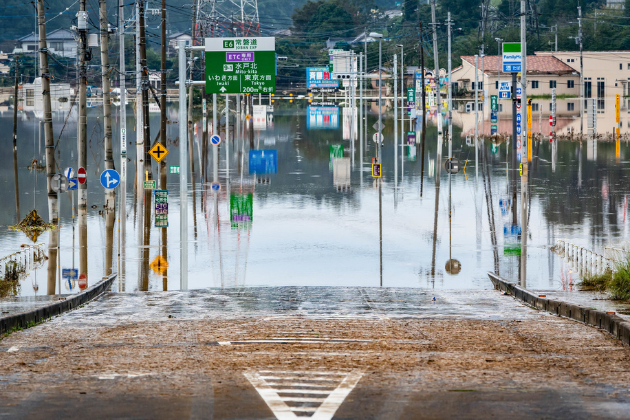 Jorban Expressway Mito Kita Interchange closed due to Naka River flooding.The death toll rises to 48, two days after Typhoon Hagibis passed through Japan while 15 are still missing and more than 100 injured as thousands of troops are deployed on rescue missions across the country.