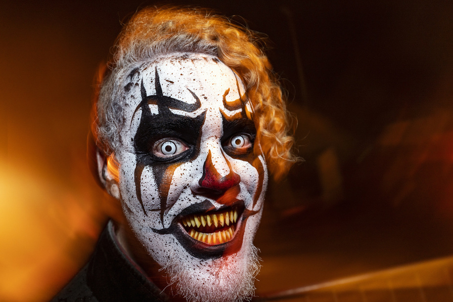 Performer at the Queen Mary's Halloween haunt, Dark Harbor in Long Beach. The annual immersive entertainment event includes six haunted mazes and hundreds of monsters.