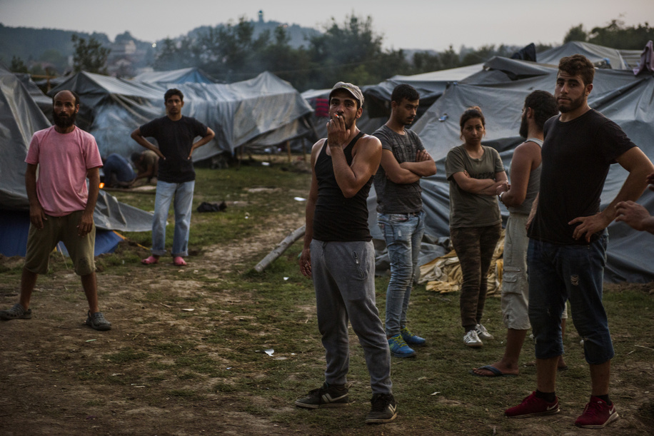 Syrian refugees seen inside Velika Kladusa refugee camp. Refugees trying to make their way into the EU via Bosnia live here in Velika Kladusa in terrible and inhuman conditions in a tent city after the closure of the former Balkan route, improvised tents are mostly the only roof for man, woman and children. People try to cross the border through the so called