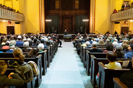 Interfaith vigil held at Congregation Ansche Chesed on the Upper West Side of New York City to honor the memory of the victims of the shooting at the Tree of Life synagogue in Pittsburgh, Pennsylvania on October 27, 2018.