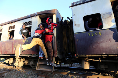 Commuters have resorted to using old train after work during the crackdown in Kenya. Matatus operators have withdrawn their vehicles to protest the government's enforcement crackdown measures on the PSVs public service vehicles countrywide while a Few operators double bus fare in Nairobi.