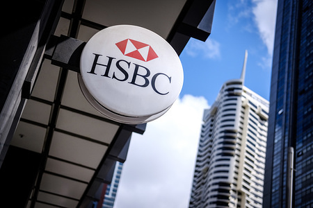 HSBC Bank logo seen in Sydney, Australia.