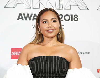 Jessica Mauboy seen on the red carpet during the 2018 ARIA Awards.