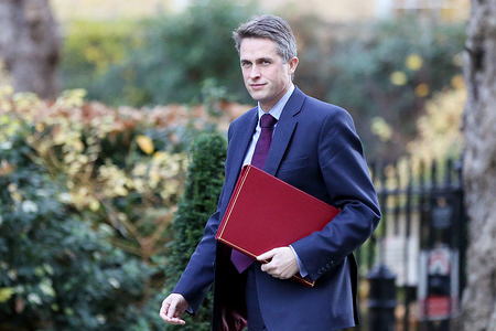 Gavin Williamson - Secretary of State for Defence is seen arriving in Downing Street for the weekly Cabinet Meeting.