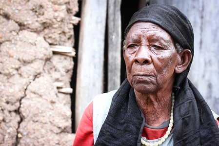 Zula Karuhimbi saved the lives of dozens of Tutsis in the Rwandan genocide, by pretending to be a witch to scare away Hutu genocidaires. (File photo: Zula Karuhimbi died in December, 2018.)
