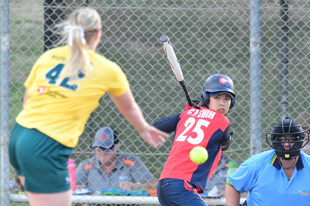 Chieh-Pei Shih of Chinese Taipei seen in action during the game between Chinese Taipei and Australia A at the 2019 Asia Pacific Cup.  Chinese Taipei won 8 - 1.
