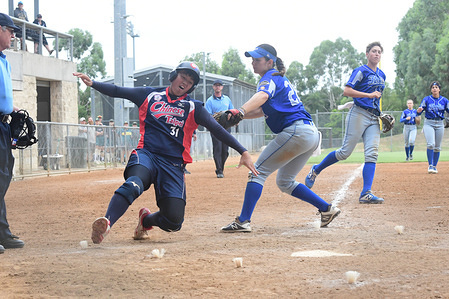Chia-Yi Chen of Chinese Taipei (left) and Priscilla Brandi of Italy (right) seen in action during the match between Chinese Taipei and Italy.  Chinese Taipei won 4 - 3.