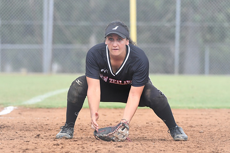 Beth Reid of New Zealand White Sox seen in action during the match between New Zealand and Australia All Stars.  Australia All Stars won 7 - 0.