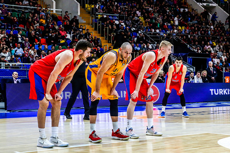 Kim Tillie, #41 of Herbalife Gran Canaria seen in action during the game of CSKA Moscow against Herbalife Gran Canaria in Round 23 of the Turkish Airlines Euroleague game of 2018-2019 season. CSKA Moscow beat Herbalife Gran Canaria, 107-85.