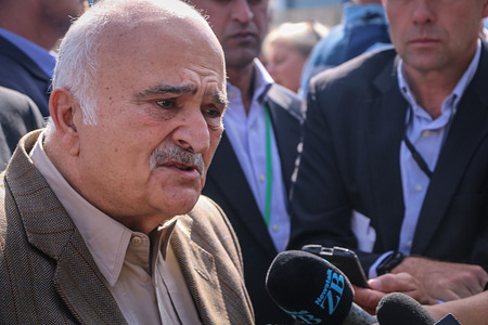 Jordanian Prince El Hassan bin Talal seen speaking to the media while attending the reopening of the Masjid Al Noor mosque Around 50 people has been reportedly killed in the Christchurch mosques terrorist attack shooting targeting the Masjid Al Noor Mosque and the Linwood Mosque.