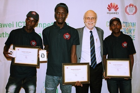 Some of the students who participated in the Huawei ICT Competition 2019. during the ceremony. Awarding ceremony of students who participated in the Huawei ICT Competition 2019, held at the Gaborone International Convention Centre in Gaborone, Botswana.