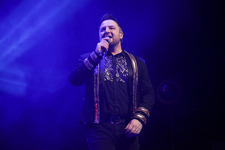 Mikey Graham seen performing at the ICC in Sydney during the Boyzone's Thank You & Goodnight Farewell Tour.