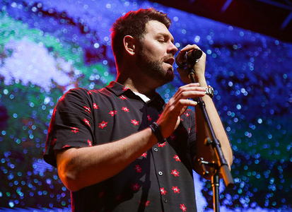Brian McFadden seen performing at the ICC in Sydney with Boyzone on their Thank You & Goodnight: The Farewell Tour.