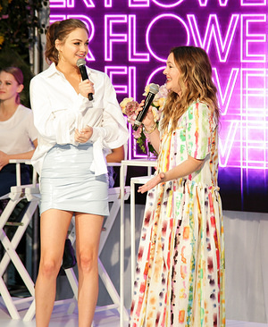 Drew Barrymore and Ksenija Lukich are seen at the Westfield Parramatta in Sydney to celebrate the launch of her cosmetic line Flower Beauty.