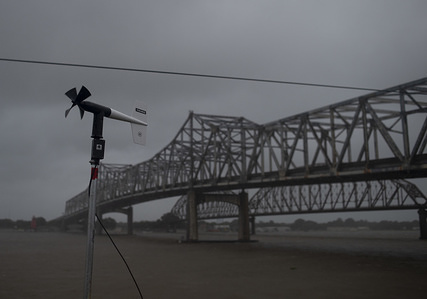 Heavy winds and droves of rain mark the arrival of Tropical Storm Barry to land in Morgan City, Louisiana. Cities along the Gulf Coast brace themselves for the expected flooding and high winds that will accompany the storm that many believe will make landfall around noon as a Category 1 Hurricane.