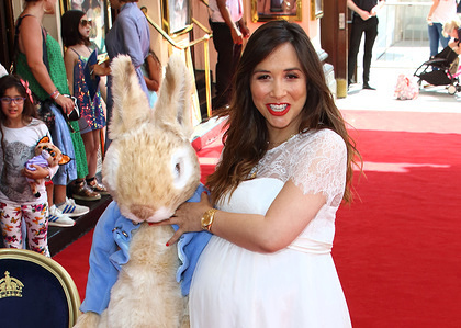 Presenter Myleene Klass attends the Where is Peter Rabbit Press Day at Theatre Royal, Haymarket