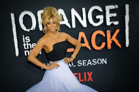 Laverne Cox attends the 'Orange Is The New Black' Final Season Premiere in New York.