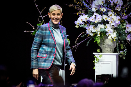 "American comedian, television host, actress, writer, producer, and LGBT activist, Ellen DeGeneres was in Toronto's Scotiabank Arena for a moderated Q&A titled ""A Conversation with Ellen DeGeneres""."