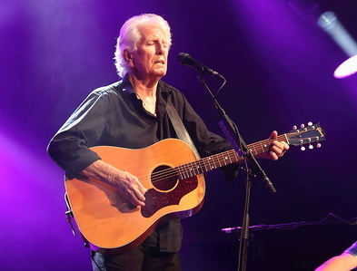 British singer-songwriter and musician Graham Nash - famous for being part of the folk-rock supergroup Crosby, Stills & Nash - performs on Day One of the World renowned Cambridge Folk Festival at Cherry Hinton Hall, Cambridge.