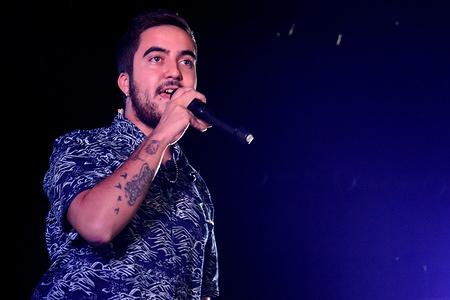 Francisco Javier Álvarez Beret, a Spanish singer performs during his concert at the Tarraco Arena Square in Tarragona.