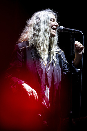 American singer-songwriter, Patti Smith, performs live on stage at the Vodafone Paredes de Coura music festival in Paredes de Coura.