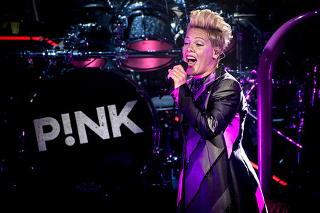 Alecia Beth Moore, known professionally as Pink (stylized as P!nk) performed a sold out show in Toronto.