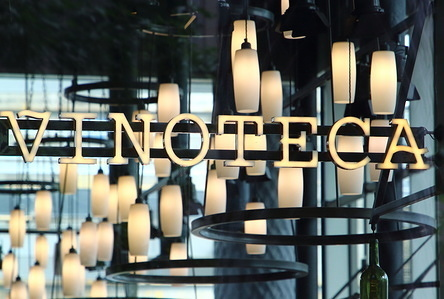 Vinoteca restaurant in the recently developed Kings Boulevard and Pancras Square behind London's Kings Cross Rail station.
