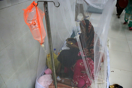 Dengue patients receive treatment at Shaheed Suhrawardy Medical College and Hospital in Dhaka. A total 47 dengue patients have died across Bangladesh from January 1 till August 21, said Directorate General of Health Services (DGHS). However, the unofficial death toll is reported to be over 105, so far.