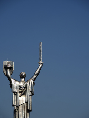 Mother Motherland Monument statue in Kiev.