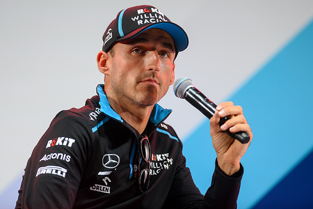 Robert Kubica from Williams F1 team speaks during the Verva Street Racing event, one of the largest racing automotive festival in Poland.