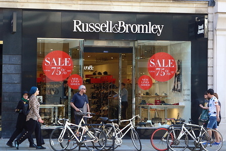 Footwear and ladies handbag retailer Russell & Bromley has a store amongst the Luxury brands in London's prestige shopping area in Knightsbridge.