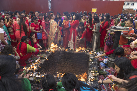 Women perform rituals during the festival. Hindu women especially celebrate Teej Festival by dancing and praying. Women fast and pray for marriage and family. Single women pray for better future marriage, while married women pray for marital bliss.