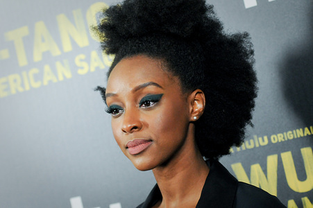 Ebony Obsidian attends the Wu-Tang: An American Saga premiere held at Metrograph in New York City.