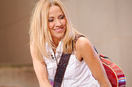 Sheryl Crow performs at Rockefeller Center in New York City.