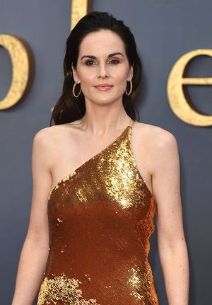 Michelle Dockery attends the Downton Abbey World Premiere at Cineworld Leicester Square in London.