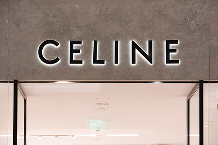 French luxury goods brand Celine, owned by LVMH group, logo seen in Shanghai.