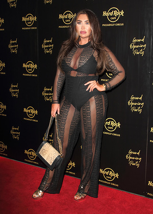 Lauren Goodger on the red carpet at the Hard Rock Cafe Piccadilly Circus Launch Party in London.
