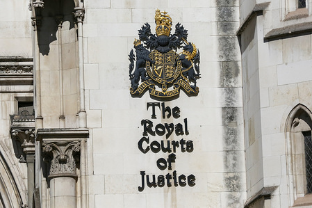 An exterior view of the Royal Courts of Justice in London.  The Royal Courts of Justice, commonly called the Law Courts, is a court building in London which the High Court and Court of Appeal of England and Wales. The High Court also sits on circuit and in other major cities.