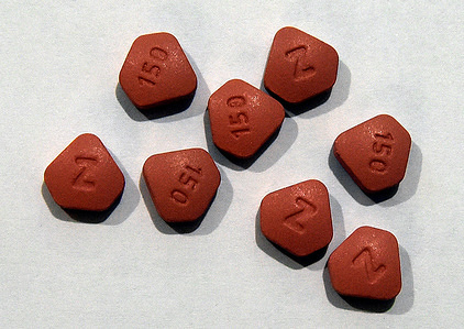In this photo illustration the Zantac tablets, The U.S. Food and Drug Administration has learned that some acid-reducing and heartburn medicines, including Zantac, contain low levels of a cancer-causing impurity.