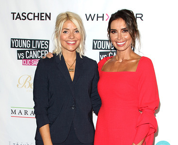 Holly Willoughby and Christine Lampard at the CLIC Sargent's 'A Very British Affair' Charity Auction at Claridges Hotel in London.