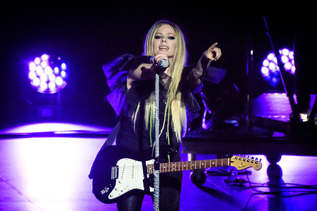 Canadian singer and songwriter, Avril Lavigne, performs a sold out show in Toronto.