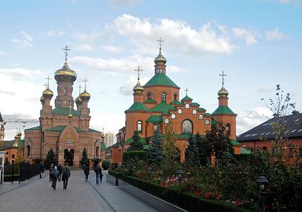 "The Holy Intercession Monastery ""Goloseevskaya Deserts"" in Kiev."