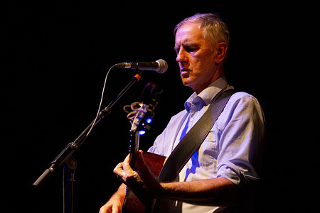 Australian singer-songwriter, guitarist and music critic, Robert Forster performs live on stage at Passos Manuel in Porto.