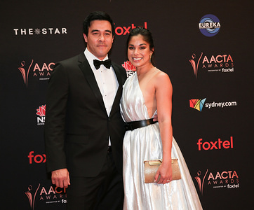James Stewart & Sarah Roberts attend the 2019 AACTA Awards Presented by Foxtel at The Star in Sydney.