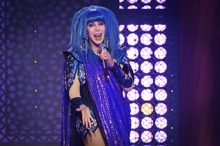 American singer and actress Cher performs live on stage at a sold out show in Toronto.