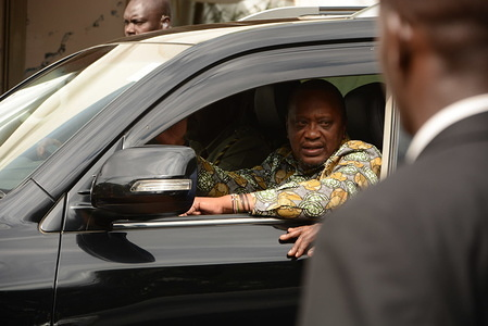 President of Kenya, Uhuru Kenyatta leaves Bomas of Kenya in Nairobi after officially launching the Building Bridges Initiative report (BBI). The report was of views by Kenyans on how to improve governance both at the national and county level in order to have equal development opportunities.