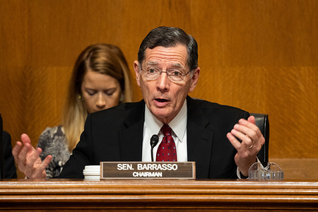 WASHINGTON, UNITED STATES - JANUARY 08 2020: U.S. Senator John Barrasso (R-WY) speaking at the Senate Environment and Public Works Committee hearing on the Nonpoint Source Management Program of the Clean Water Act.