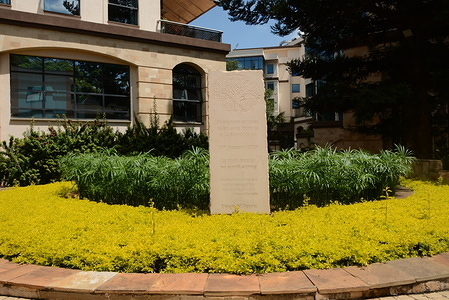 A memorial plague to commemorate victims of the terror attack at the DusitD2 complex. January 15th 2020 marks the first anniversary of the Dusit D2 terror attack by Al-Shabaab militants that left 21 people dead.